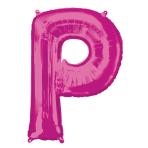 """Letter P Pink SuperShape Foil Balloons 34""""/""""86cm P50 - 5 PC"""