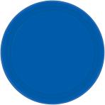 Bright Royal Blue Plastic Plates 23cm - 10 PKG/10
