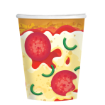 Pizza Party Paper Cups 266ml - 12 PKG/8