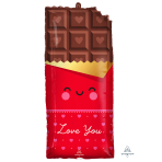 """Chocolate Love SuperShape XL Foil Balloons 13""""/33cm w x 28""""/71cm h P30 - 5 PC"""