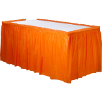 Orange Peel Plastic Table Skirts - 6 PC