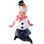 Children Snowman Costume - Age 3-5 Years - 1 PC