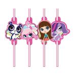 Littlest Pet Shop Drinking Straws - 10 PKG/8