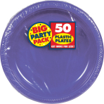 New Purple Plastic Plates 18cm - 6 PKG/50