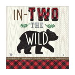 "Little Lumberjack ""In Two the Wild"" Luncheon Napkins 33cm - 12 PKG/16"