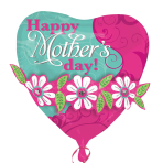 "Mother`s Day Garland Multi-Balloon XL 24""/61cm w x 24""/61cm h P45 - 5 PC"