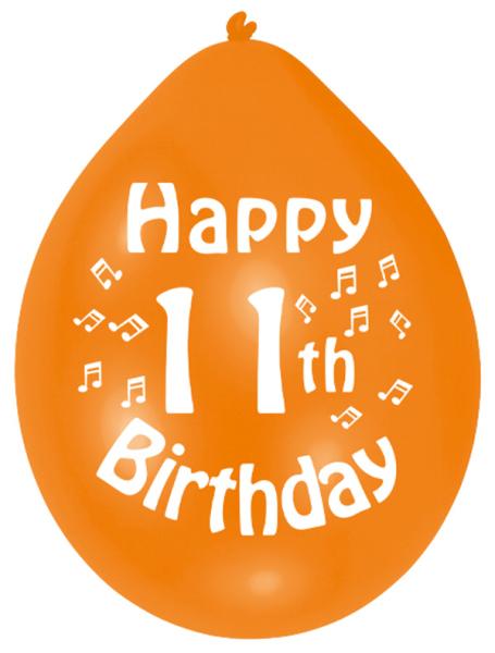 Happy 11th Birthday Latex Balloons