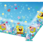 SpongeBob Plastic Tablecovers 1.2m x 1.8m - 10 PC