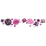 Pink Sparkling Celebration 18th 3 Pack Value Confetti 34g - 12 PC