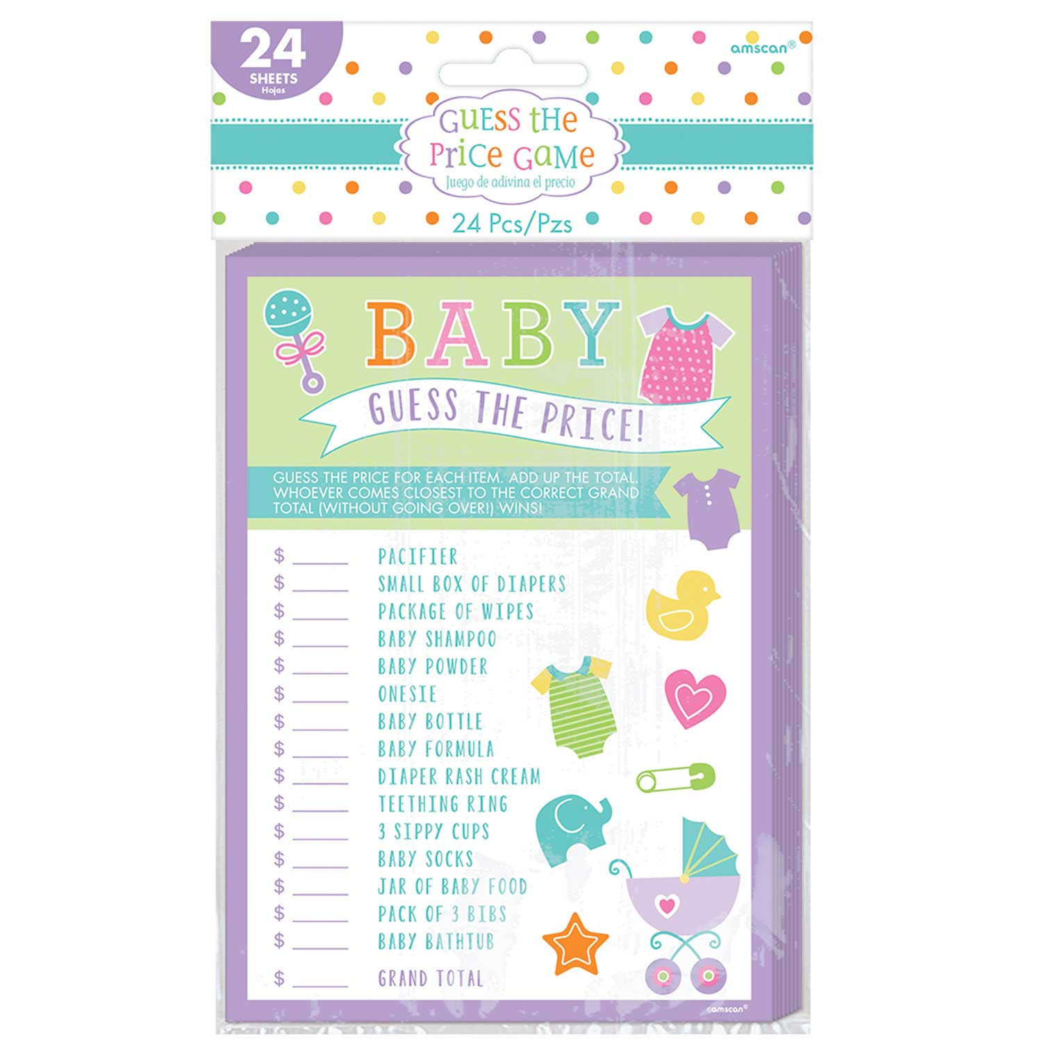 Baby Shower Guess the Price Game 12 PKG 24 Amscan International