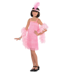 Flapper Costume - Age 6-8 Years - 1 PC