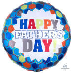 Happy Father's Day Burst Standard HX Foil Balloons S40 - 5 PC