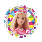 Barbie Sparkle Paper Plates 18cm - 6 PKG/8