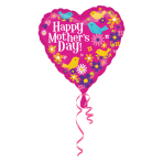 Happy Mother's Day Birds Standard HX Foil Balloons S40 - 5 PC