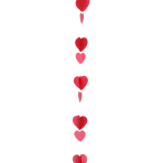 Red & White Heart Balloon Tails 1.2m - 5 PC