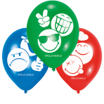 "SmileyWorld Latex Balloons 9""/22cm - 10 PKG/6"