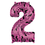 "Minnie Mouse Forever Number 2 Mid-Size SuperShape Foil Balloons 17""/43cm w x 26""/66cm h L26 - 5 PC"