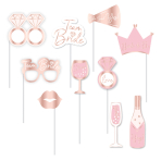 Team Bride Photo Booth Props - 6 PKG/10