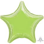 Metallic Lime Green Star Standard Unpackaged Foil Balloons S15 - 10 PC
