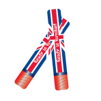 Great Britain Inflatable Foil Rumble Sticks 60cm h 6 - PKG/2