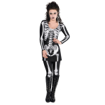 Adults Bare Bones Skeletons Costume - Size 8-10 - 1 PC