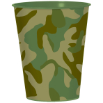 Camouflage Plastic Favour Cups 473ml - 12 PC
