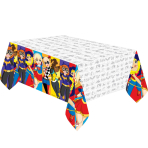DC Super Hero Girls Plastic Tablecovers 1.37m x 2.43m - 6 PC