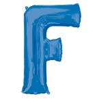 """Letter F Blue SuperShape Foil Balloons 34""""/""""86cm P50 - 5 PC"""