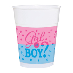 Girl or Boy Plastic Cups 266ml - 6 PKG/25