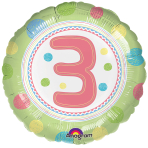 SpotOn 3rd Happy Birthday Standard Foil Balloons S40 - 5 PC