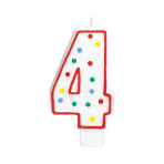 Giant Size Numeral Candles 13.3cm #4 - 12 PC