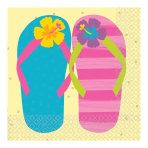 Just Chillin' Flip Flop Luncheon Napkins 33cm - 12 PKG/16
