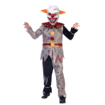 Evil Clown Costume - Age 8-10 Years- 1 PC