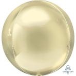 "Pastel Yellow Orbz XL Packaged Foil Balloons 15""/38cm w x 16""/40cm h G20 - 5 PC"