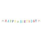 Confetti Birthday 21st Birthday Letter Banners 1.8m - 10 PC