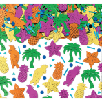 Island Party Embossed Metallic Mix Confetti - 12 PC