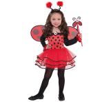 Girls Ballerina Ladybug Costume - Age 4-6 Years - 1 PC