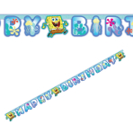 SpongeBob Happy Birthday Letter Banner - 10 PKG