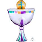 """Communion Cup SuperShape Foil Balloons 20""""/50cm w x 31""""/78cm h - P35 5 PC"""