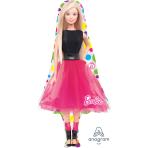 """Barbie Sparkle SuperShape Foil Balloons 21""""/53cm w x 42""""/106cm h - P38 5 PC"""