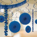 Bright Royal Blue Room Decoration Kits - 6 PKG/18