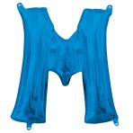 """Letter M Blue Minishape Foil Balloons 16""""/40cm A04 - 5 PC"""