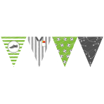 Kicker Party Paper Pennant Banners 4m x 19cm - 10 PC