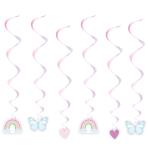 Fairy Princess Swirl Decorations - 6 PKG/6