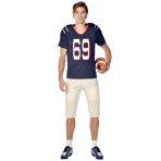 Football Quarterback Costume - Size L - 1 PC