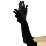 Elbow Length Black Gloves 52cm - 6 PC