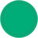 Festive Green Paper Plates 17.7cm - 12 PKG/8
