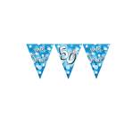 Happy 50th Birthday Flag Banner - 4m 10 PKG
