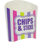 Chip n Sticks Scoop Coloured Stripes - 100 PKG