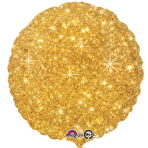 Faux Sparkle Gold Standard Unpackaged Foil Balloons S30 - 10 PC